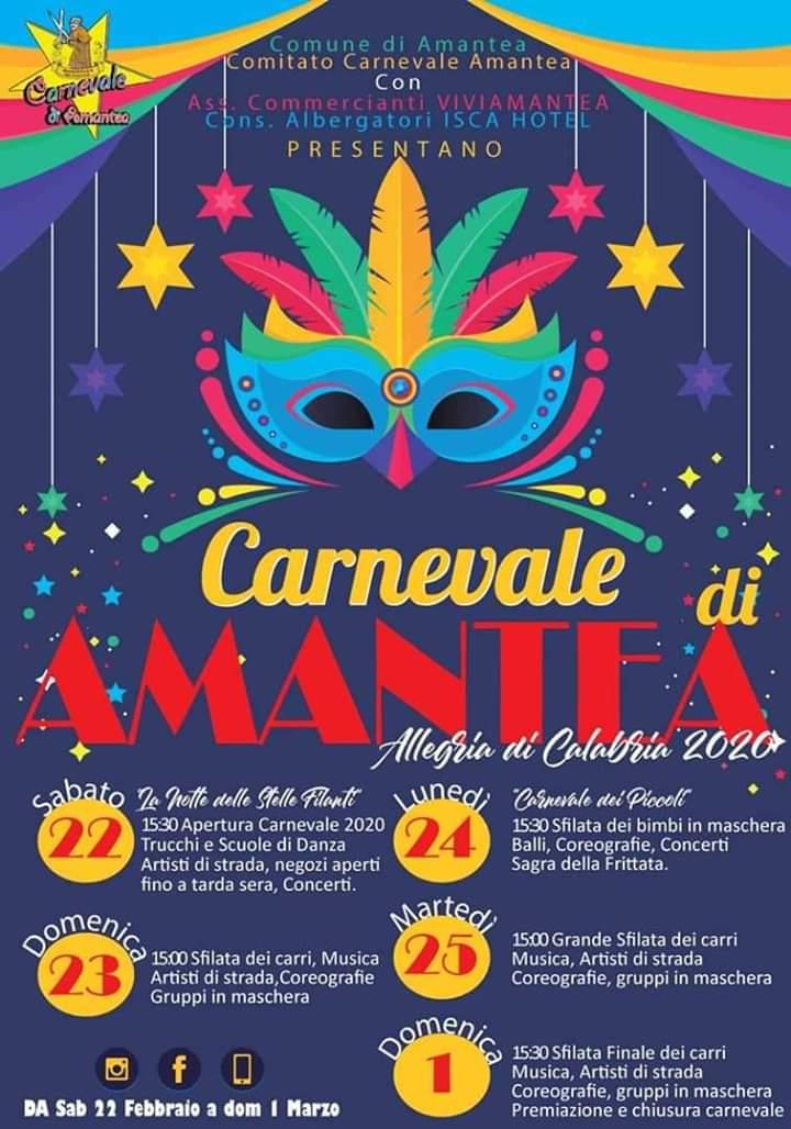 Carnevale di Amantea 2020 locandina