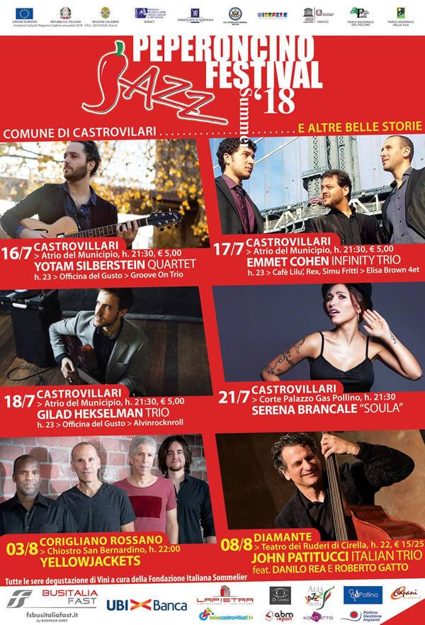 Peperoncino Jazz Festival 2018 locandina