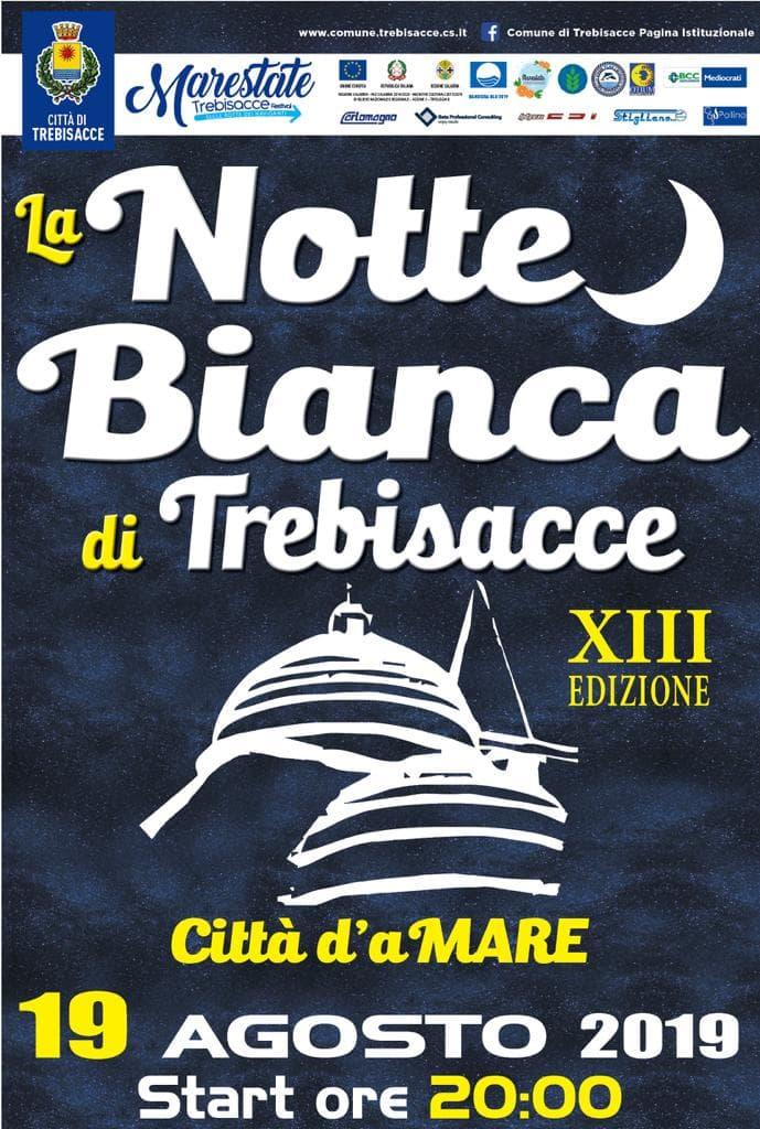 Notte Bianca a Trebisacce 19 Agosto 2019 locandina