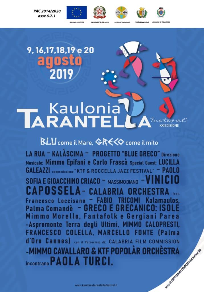 Programma Kaulonia Tarantella Festival 2019 locandina
