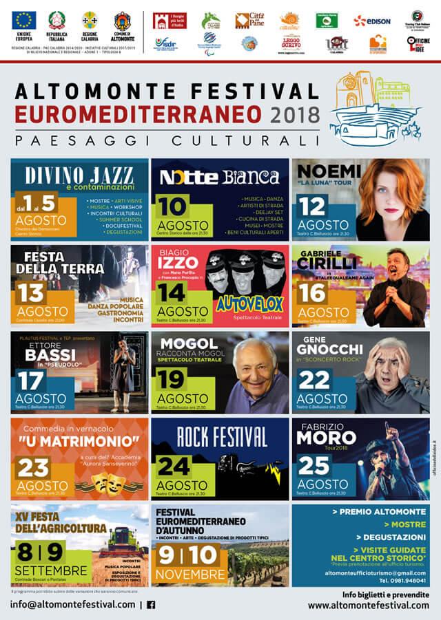 Festival Euromediterraneo di Altomonte 2018 locandina