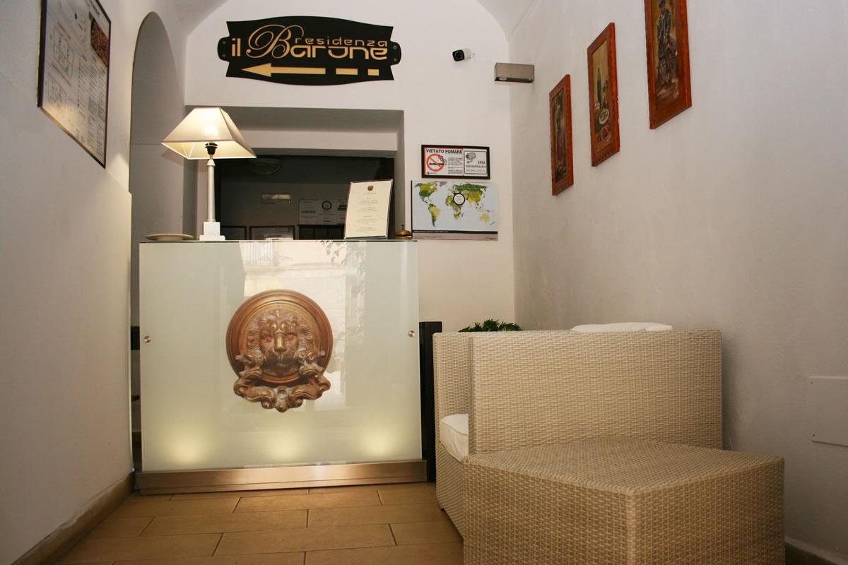 Residenza il Barone reception,Tropea