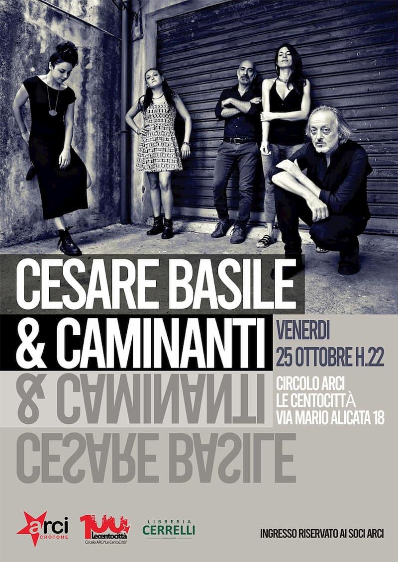 Cesare Basile in concerto 25 ottobre 2019 a Crotone locandina