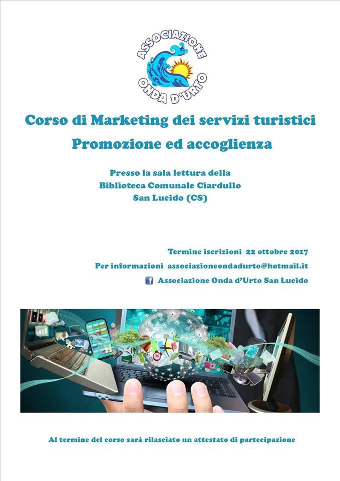 Corso Marketing dei Servizi Turistici,Promozione e Accoglienza