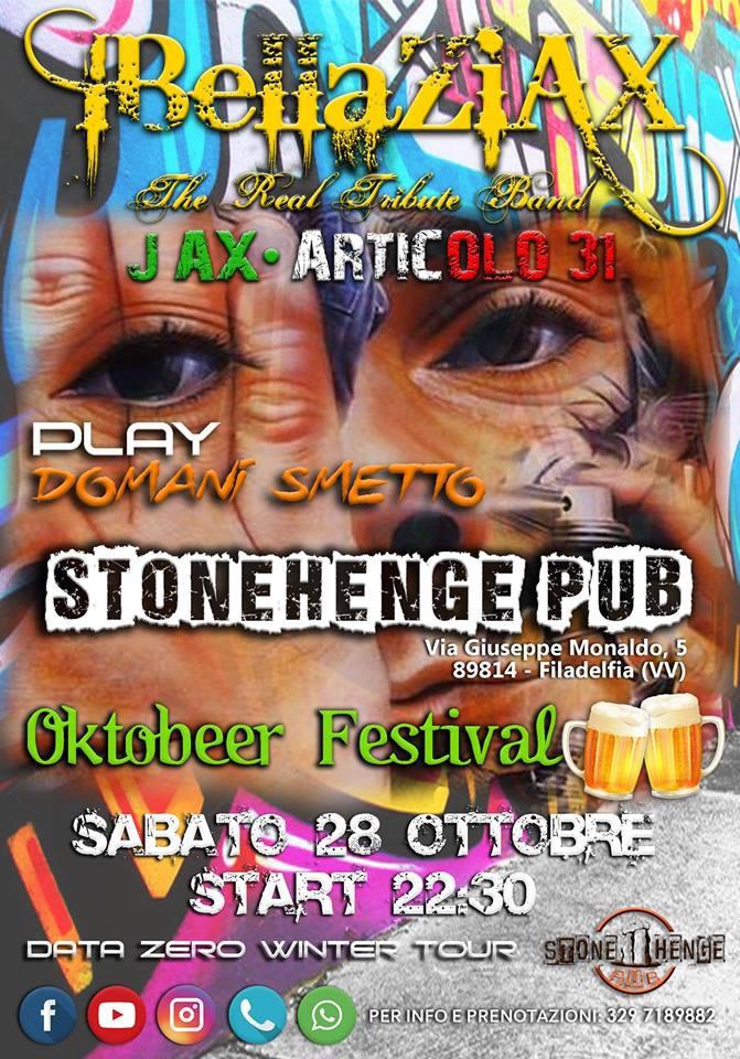 Oktobeer Festival, Stonehenge Pub Filadelfia 2017 locandina