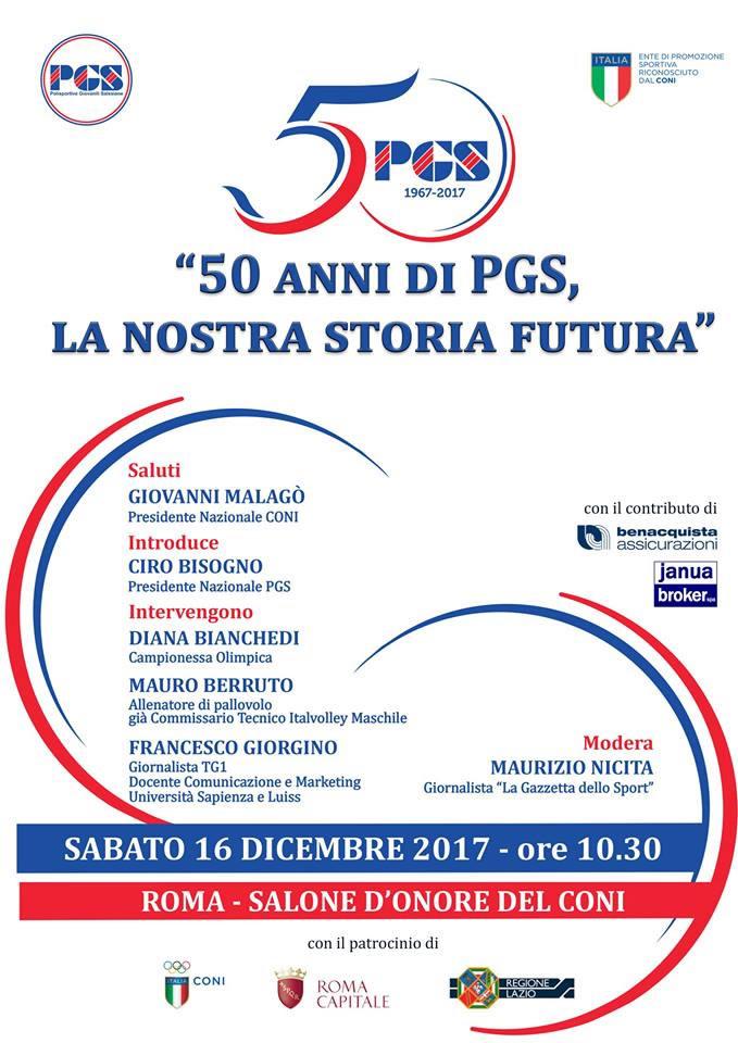 50 anni di PGS, la nostra storia futura locandina