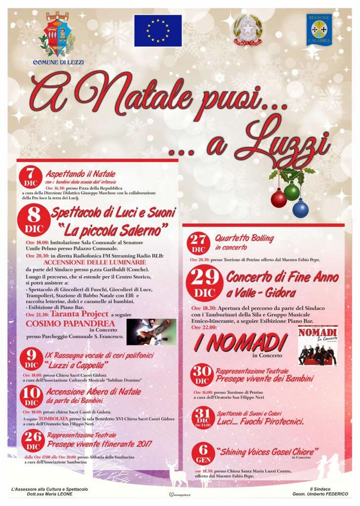A Natale puoi a Luzzi 2017 - 2018