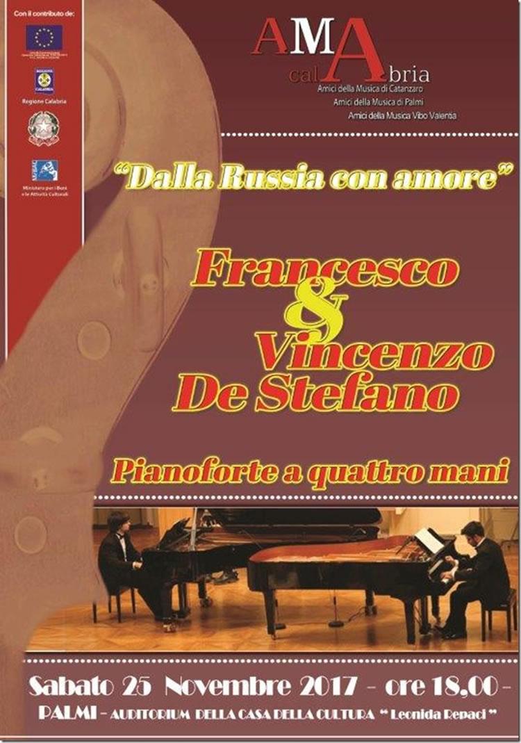 Dalla Russia con amore Duo pianistico De Stefano - sabato 25 novembre 2017 a Palmi