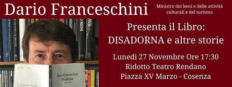 Dario Franceschini Presenta il Libro Disadorna e altre storie