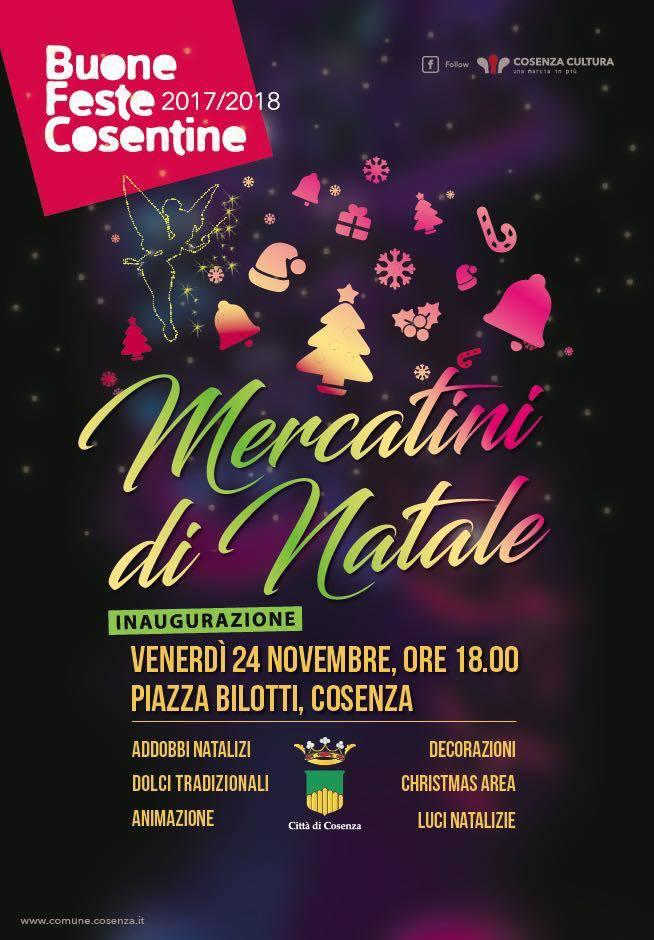 Inaugurazione Mercatini di Natale a Cosenza