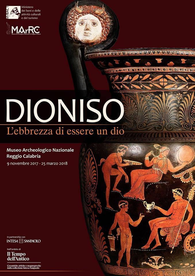 Mostra Reggio Calabria Dioniso L'ebbrezza di essere un Dio