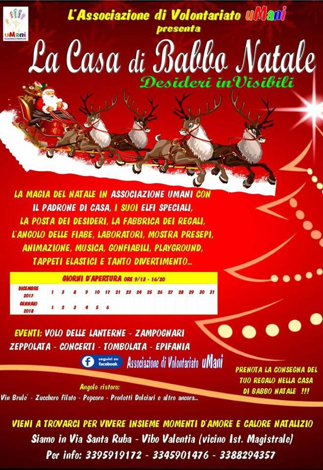 La Casa di Babbo Natale Desideri inVisibili 2017 a Vibo Valentia