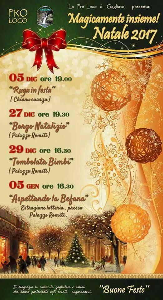 Magicamente insieme, Natale 2017 a Gagliato
