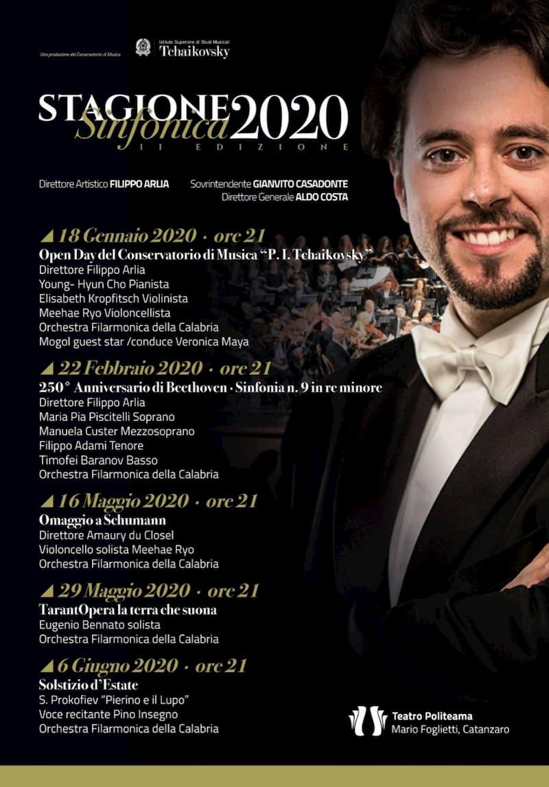 Stagione Teatrale del Teatro Politeama di Catanzaro 2020 locandina