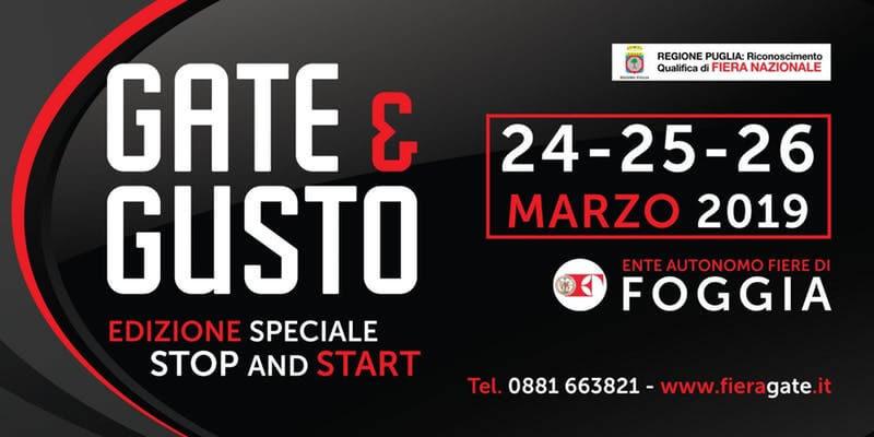Gate e Gusto 24 - 25 - 26 marzo 2019 a Foggia