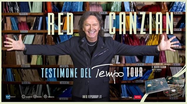 Red Canzian Testimone del Tempo Tour 2018