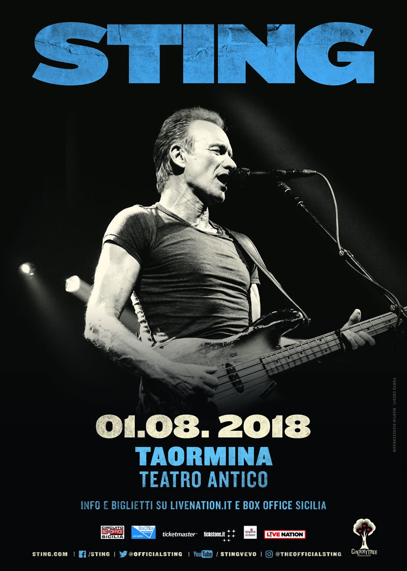 Sting Taormina 1 agosto 2018