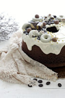 fluffosa al cacao con ganache al cioccolato bianco