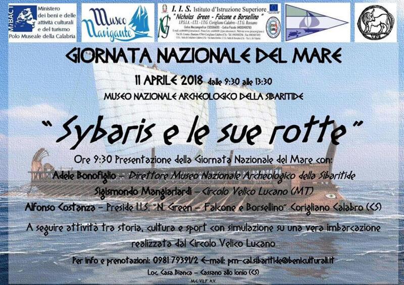 Giornata nazionale del Mare Sybaris e le sue rotte 2018