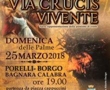 Via Crucis Vivente 2018 a Bagnara Calabra locandina