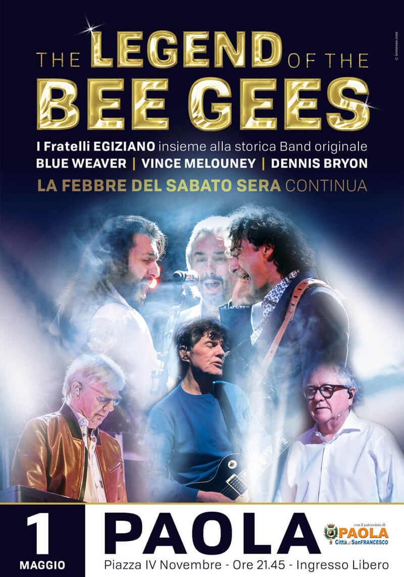 The LEGEND of the BEE GEES 1 maggio 2018 a Paola locandina