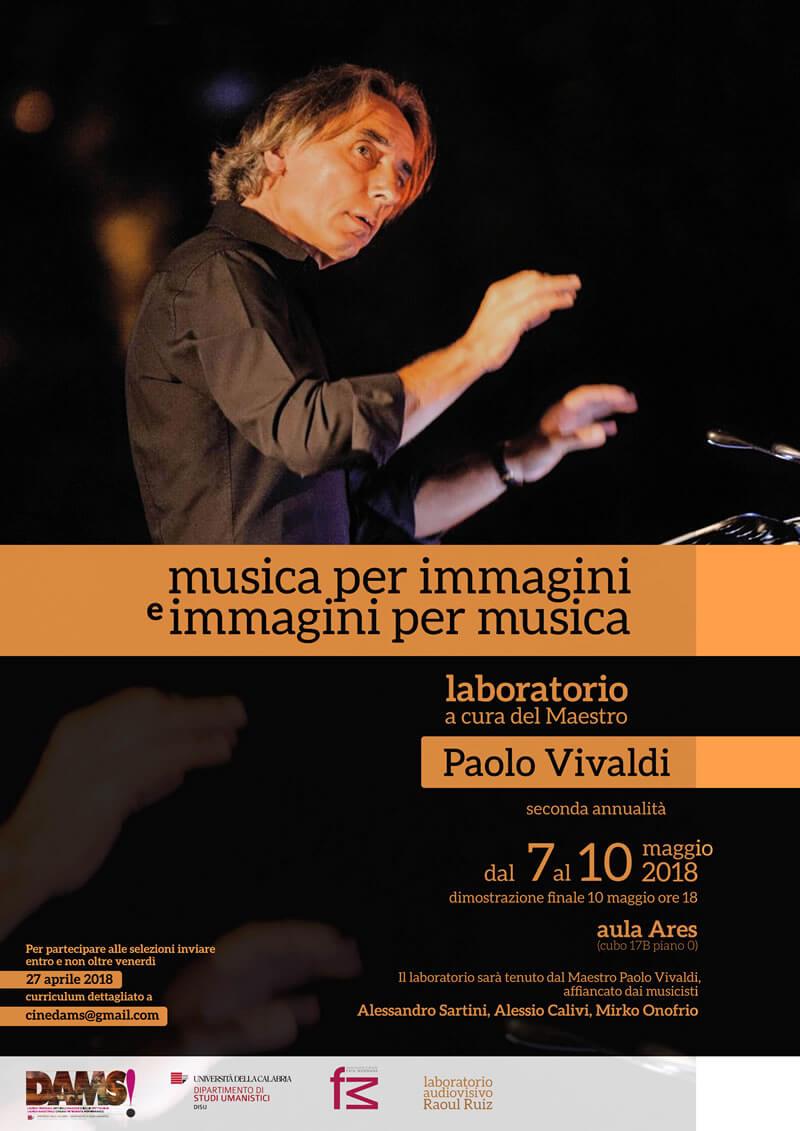 laboratorio Musica per immagini e immagini per musica Vivaldi 2018 locandina