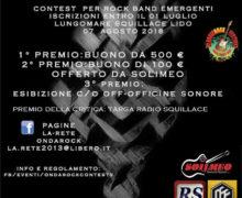 5 edizione ONDAROCKCONTEST a Squillace 7 agosto 2018 locandina
