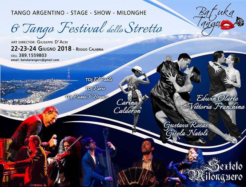 6° Tango Festival dello Stretto 2018 a Reggio Calabria locandina