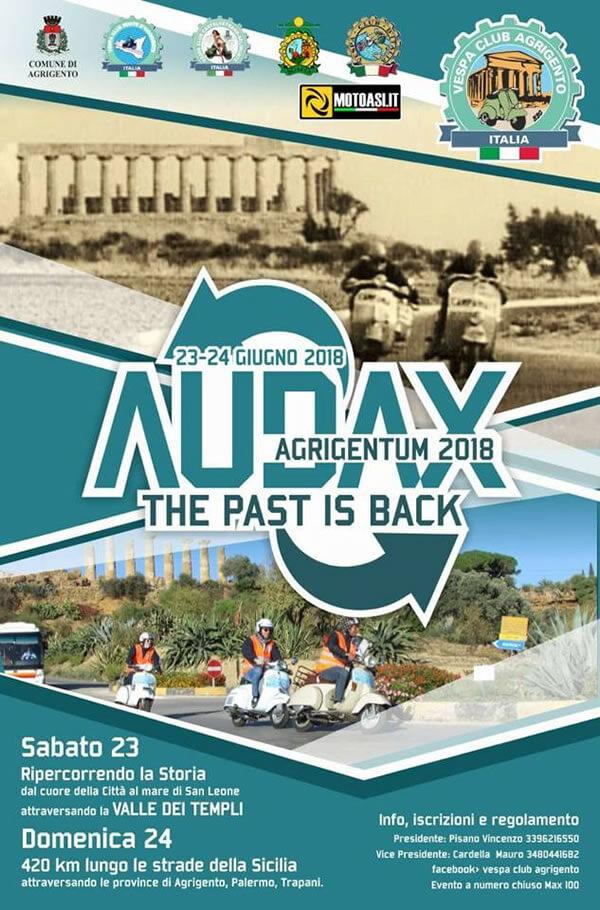 AUDAX AGRIGENTUM 23 e 24 Giugno 2018 ad Agrigento locandina