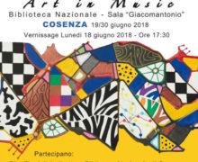 Art in music, Mostra antologica di Pasquale Colucci 19 - 30 giugno 2018 locandina