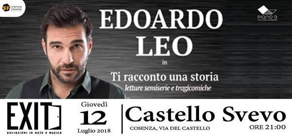 Edoardo Leo - Exit. Deviazioni in arte e musica 12 luglio 2018 Cosenza