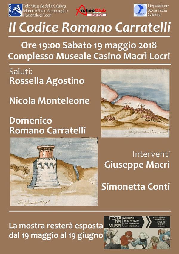 Il Codice Romano Carratelli 2018 locandina