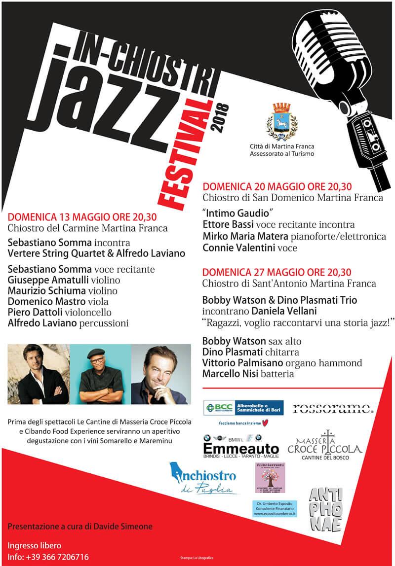 In-Chiostri Jazz a Martina Franca 2018 locandina