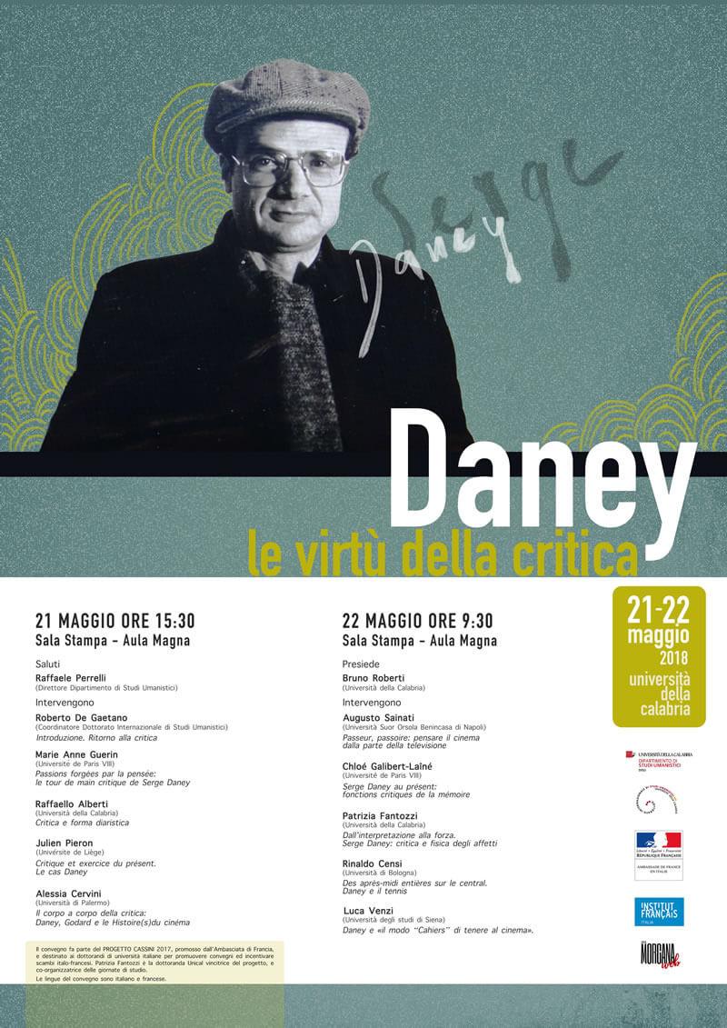 Locandina Serge Daney_le virtù della critica 2018