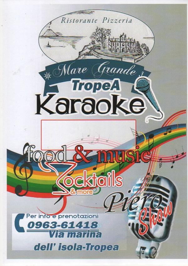 Serata Karaoke al Mare Grande di Tropea locandina