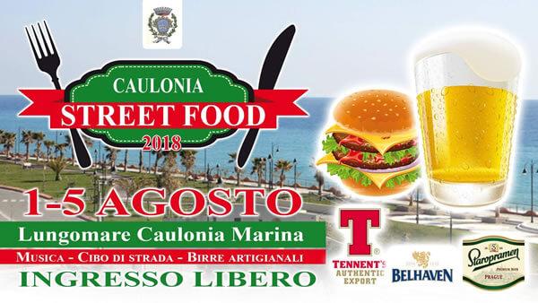2° Edizione del Caulonia Street Food, 1 Agosto a Domenica 5 Agosto 2018