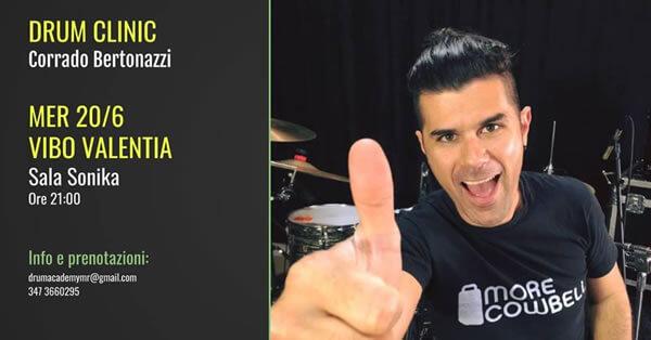 Clinic con Corrado Bertonazzi 20 giugno 2018 a Vibo Valentia