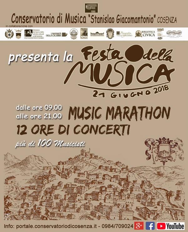 Concerto Ensemble di flauti - Galleria Nazionale di Cosenza 21 giugno 2018 locandina