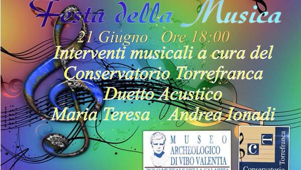 Festa della Musica 21 giugno 2018 a Vibo Valentia