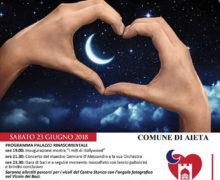 Notte Romantica dei Borghi più belli d'Italia il 23 giugno 2018 ad Aieta locandina
