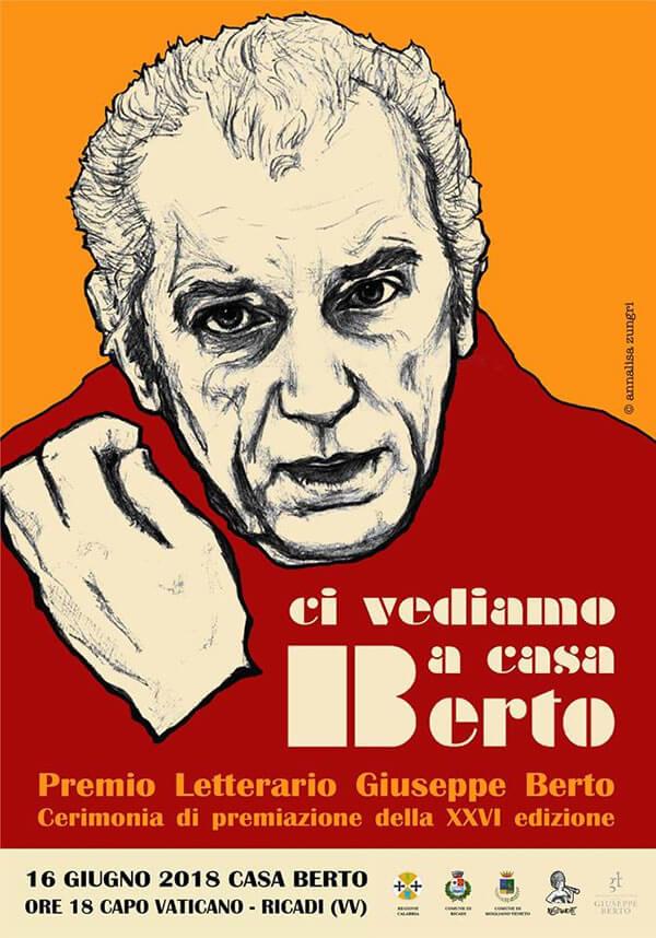 Premio Letterario Giuseppe Berto 16 giugno 2018 a Ricadi locandina