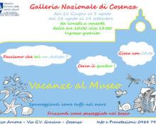 Vacanze al Museo Galleria Nazionale di Cosenza dal 25 giugno 2018
