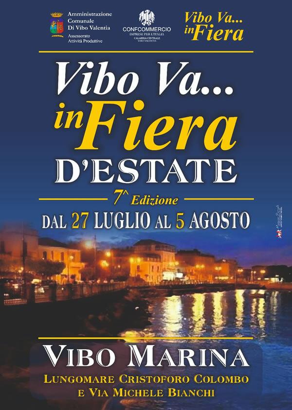Vibo Va...in Fiera dal 27 luglio al 5 agosto 2018 a Vibo Marina locandina