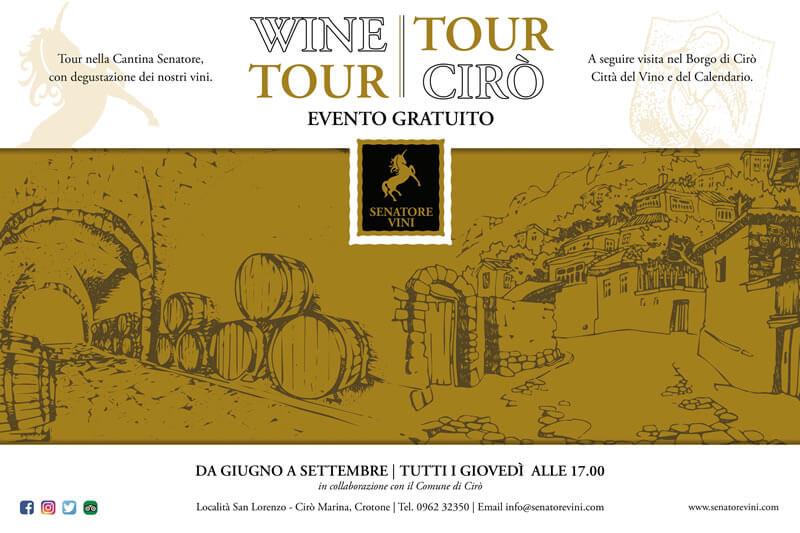 Wine Tour Tour Cirò 2018 locandina