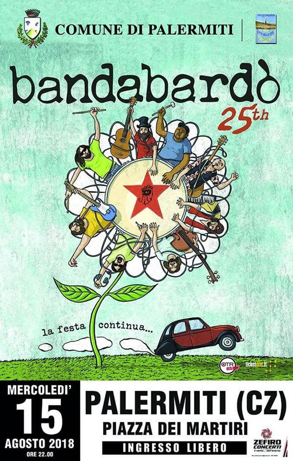 Bandabardo in Concerto 15 agosto 2018 a Palermiti locandina
