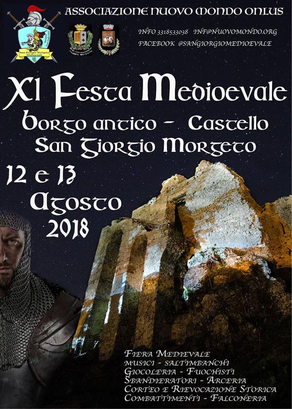 Festa Medioevale di San Giorgio Morgeto 12 e 13 agosto 2018 locandina