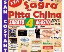 Sagra da Pitta Chjina 4 agosto 2018 a San Costantino Calabro locandina