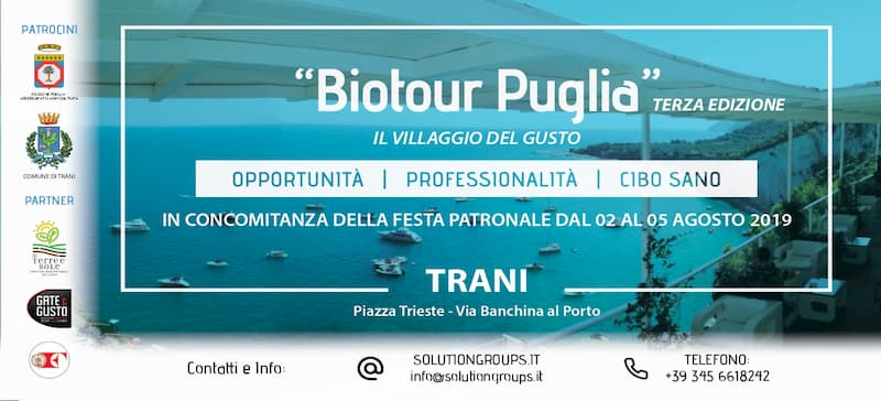 Biotour Puglia dal 2 al 5 Agosto 2019 Terza Edizione