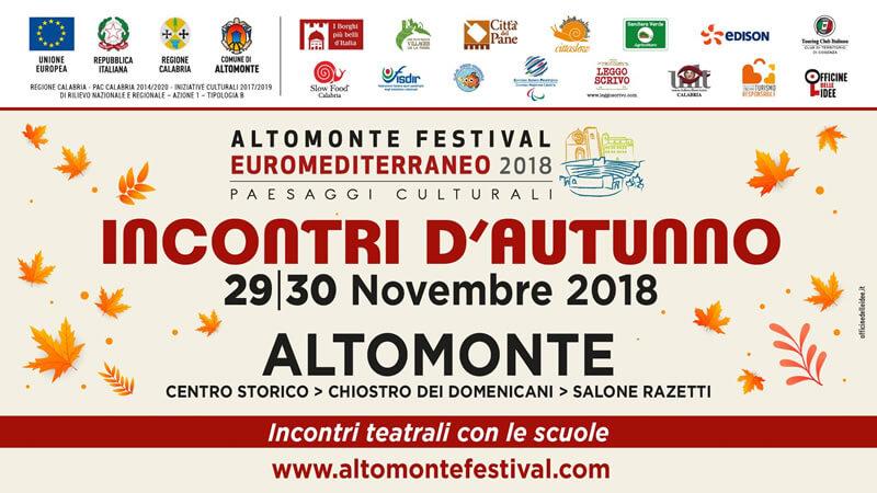 Festival Euromediterraneo di Altomonte Incontri d'autunno