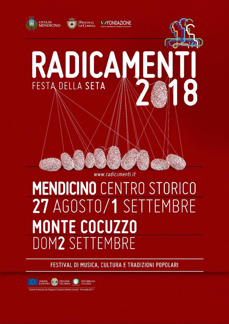 Festival Radicamenti - festa della seta 2018 a Mendicino locandina